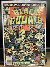 BLACK GOLIATH #5 (1976) KEY! 1st Team App of A'Askvarii Marvel Comics (B)