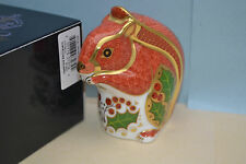"""Royal Crown Derby Paperweight """"XMAS SQUIRREL""""  1st Quality & In Original Box"""