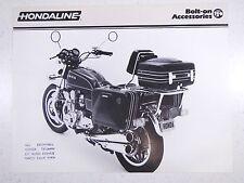 79 HONDA HONDALINE MOTORCYCLE ACCESSORIES NOS OEM DEALERS SALES SHEET BROCHURE