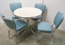 New Retro 50s American Diner Restaurant Furniture Kitchen Table and Four Chairs