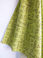 Lime Green Animal Flannel Swaddler Blanket- Soft & Warm XL 42 X 42 for snug wrap
