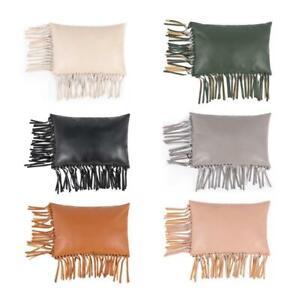 Tassel PU Leather Pillowcase Throw Pillow Case Chair Cushion Sofa Cushion Case