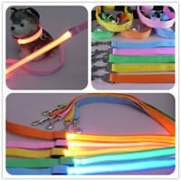 Pet Dog Leashes Nylon LED Flashing 120cm Long Night Safety Pet Supplies Cat Lead