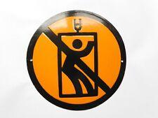 Vintage East European Industrial Factory Elevator Warning Enamel Porcelain Sign
