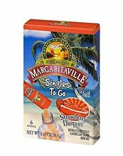 Margaritaville Singles To Go Water Drink Mix Strawberry Daiquiri Non-Alcoholic