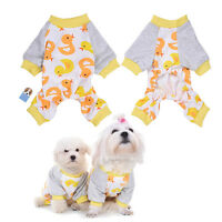 Cute Pet Dog Cat Cotton Pajamas Puppy Clothes Jumpsuit Apparel Sleepwear Costume