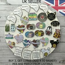 UK SELLER Fashion Pins. Cartoon Pin Fun Badge Brooch Metal Mixed Set Enamel DIY