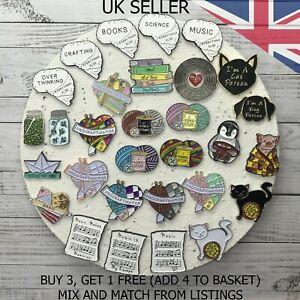 UK SELLER Fashion Pins. Cartoon Pin Fun Badge Brooch Metal Mixed Set Enamel DIY