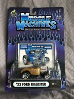 2003 MUSCLE MACHINES '32 Ford Roadster #03-13 Real Riders Gold 1932
