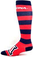 Arizona Wildcats NCAA Long Striped Navy and Red Crew Socks