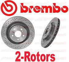Set of 2 BREMBO Rear Brake Rotor's Mercedes CLK55 CLK63 SLK55 AMG NEW