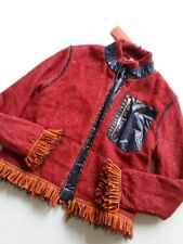 Tommy Hilfiger Collection Giacca Frange Zip-Up Red TG.L / 40 Nuovo