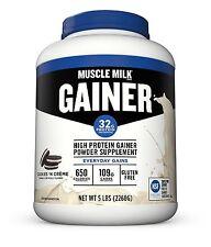 CytoSport MUSCLE MILK GAINER 5 lbs High Protein Gainer Powder, COOKIES & CREAM