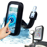 Waterproof Cell Phone Holder Motorcycle Bike Bicycle Handlebar Mount GPS