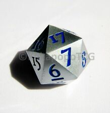 Extra Large Metal Silver D20 Countdown Dice 20 faced Magic the Gathering Mtg