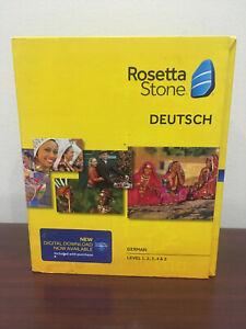 Pre-Owned Rosetta Stone TOTALe German Deutsch Version 5 Levels 1-5 PC CD-Rom