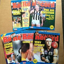 AFL Football Records x7 1997 1998 - Carlton Collingwood North Melbourne Etc