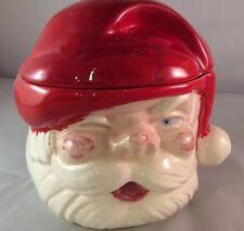 Vtg Scary Creepy Santa Claus Christmas Cookie Jar Homemade