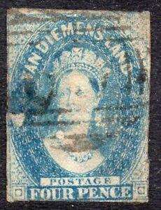 Tasmania: 1857 QVI 2d SG 39 used - faults