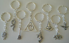 8 x Harry Potter Theme Keyrings Party Bag Fillers Gifts Favors Prizes FREEPOST A