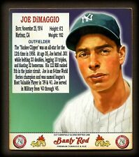 """Banty Red Man Pouch Inserts """"1951"""" JOE DiMAGGIO, New York Yankees DEBUT"""