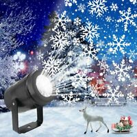 Christmas Lights Snow Projector LED Laser Outdoor Landscape Xmas Lamp Waterproof