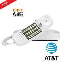 ATT Home Desk Corded Wall Mount Landline Phone Telephone AT&T 210 White Handset