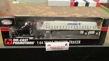 DCP#33058 LANDSTAR TRANSPORTATION FL CASCADIA TARP LOAD FLAT BED TRAILER 1:64/FC