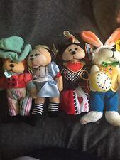 BK Alice In Wonderland Set: Alice,Queen Of Hearts, Mad Hatter, White Rabbit MWMT