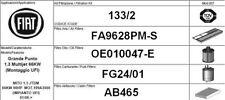 133/2 KIT 4 FILTRI TAGLIANDO FIAT GRANDE PUNTO 1.3 MJT KW 66 CV 90 UFI