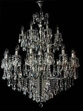 GRÖßTER LÜSTER BEI EBAY 24 BRENNST.ECHTES BLEI-KRISTALL passende Wandlampen verf
