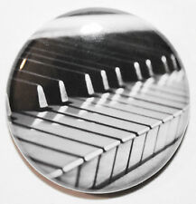 """1"""" (25mm) Piano Keys Musical Button Badge Pin - High Quality - MADE IN UK"""