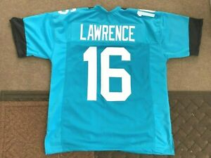 UNSIGNED CUSTOM Sewn Stitched Trevor Lawrence Teal Jersey - M, L, XL, 2XL