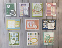 10 Handmade Baby greeting cards envelopes Stampin' Up! + more