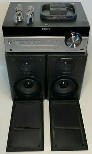 Sony HCD-SBT100 Bluetooth Micro Music System & Speakers (Tested & Working) Clean