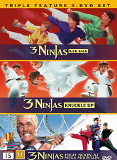3 Ninjas (Ninja Kids) Kick Back...Fight & Fury...Mega Mountain Mission_3 DVD SET