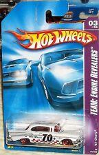 2008 Hot Wheels #155-196 White '57 Chevy Elwood Malaysia Diecast 4+