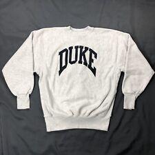 Vtg Duke University Sweatshirt Sz XL Gray Blue Long Sleeve Sweater