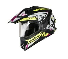 SB-42 Bang Enduro Mat Black & Fluo Yellow L Size With Plain Visor 600 mm ECs