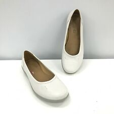 Hotter Shoes UK 7.5 White Slip On Casual Occasion Women's Leather 291681