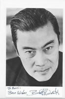 Burt Kwouk signed 3x5 b&w photo autographed Pink Panther movie actor d.2016
