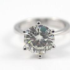 5.00 CT ROUND D/VS1 CLARITY ENHANCED REAL DIAMOND SOLITAIRE RING PLATINUM