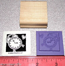 Stampin Up Occasionally Stamp Single Clock Vintage looking wind up Clock Face