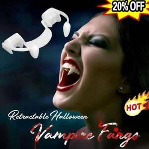 Einziehbare Zähne Kleid Kostüm Zahn Halloween Party Cosplay Vampirzähne Geschenk