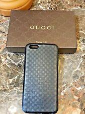 Authentic GUCCI iPhone 6/7* Plus Bioplastic Micro-GG Case Black w/Gucci Box