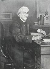 1896 Large Antique Portrait - Edward White Benson - Archbishop of Canterbury