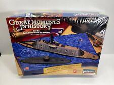 Lindberg 1:300 Monitor & Merrimac Battle of the Ironclads 1862 Sealed Model Kit