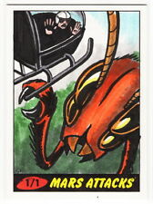2012 TOPPS MARS ATTACKS HERITAGE 50th Anniversary Steven Oatney 1/1 Sketch Card