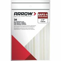 """Arrow Hot Melt Glue Sticks 4"""" 24 Sticks"""