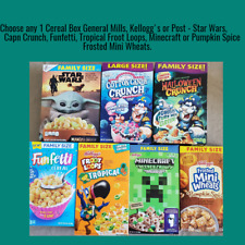 Choose any 1 Cereal Box General Mills, Kellogg's or Post: Froot Loops & more